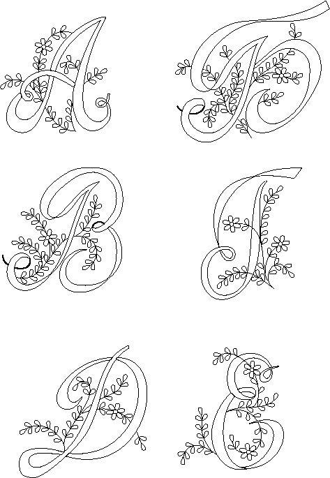 Трафареты букв для вышивания